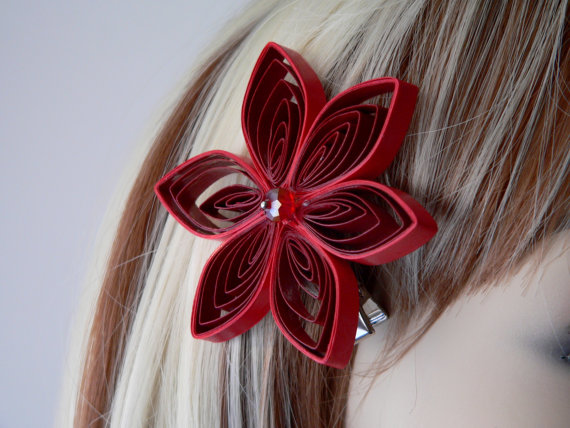 Christmas-Red-Floral-Bridesmaid-Hair-Clip